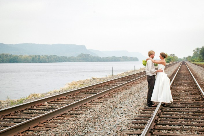 Train Tracks Bride and Groom