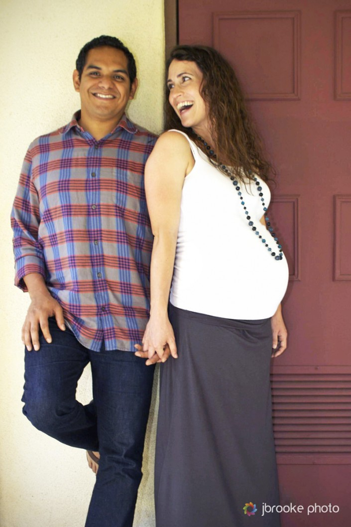 Maternity Couple Red Door